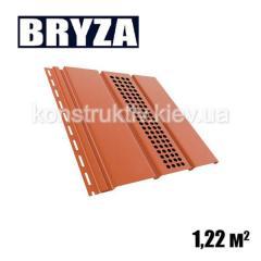 Панель софит перфорированная, 4х0,31м, кирпичный