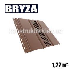 Панель софит перфорированная, 4х0,31м, коричневый