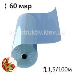 Пленка полиэтиленовая тепличная 1500/60мкр/100м (прозрачная)