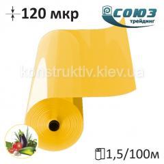 Пленка полиэтиленовая тепличная Союзтрейдинг 12 СТ 1500/120мкр/100м (желтая)