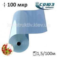 Пленка полиэтиленовая тепличная Союзтрейдинг 1500/100мкр/100м (прозрачная)