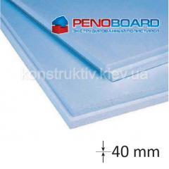 Плита полистирольная Penoboard 40*600*1250мм (0,75 кв.м)