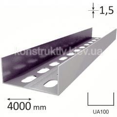 Профиль для гипсокартона UA 100, 4 м. (1,5 мм)