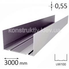 Профиль для гипсокартона UW 100, 3 м (0,55)