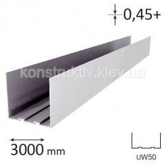 Профиль для гипсокартона UW 50, 3 м (0,45+)