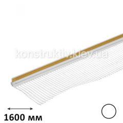Профиль примыкания оконных откосов с сеткой 1,6 м (белый)