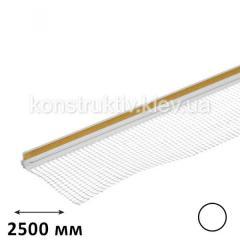 Профиль примыкания оконных откосов с сеткой 2,5 м (белый)