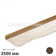 Профиль примыкания оконных откосов с сеткой 2,5 м (коричневый)