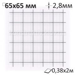 Сетка кладочная Ø2,8 х 65 х 65 мм/0,38 х 2 м