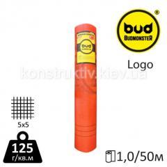 Сетка стеклотканевая BudMonster LOGO красная (1*50 м) 5*5 125 г/м.кв.