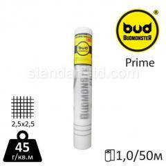 Сетка стеклотканевая BudMonster PRIME белая (1*50 м) 2,5*2,5 45 г/м.кв.