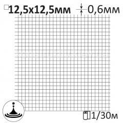Сетка штукатурная сварная Ø0,6x12,5x12,5мм/1x30м мокрого волочения