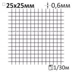 Сетка штукатурная сварная Ø0,6x25x25мм/1x30м