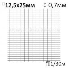 Сетка штукатурная сварная Ø0,7x12x25мм/1x30м