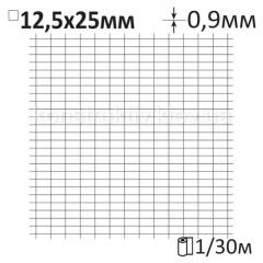 Сетка штукатурная сварная Ø0,9x12,5x25мм/1x30м