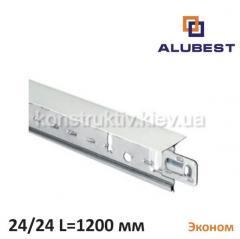 Т-профиль белый мат. ЕКОНОМ 24/24 1200 мм, Alubest (уп. 90 шт)