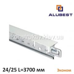 Т-профиль белый мат. ЕКОНОМ 24/25 3700 мм, Alubest (уп. 20 шт)
