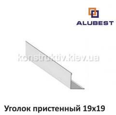 Уголок пристенный 19х19мм 3000 мм белый Оцинк, Alubest