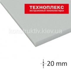 Экструдированный пенополистирол Техноплекс 20*600*1180мм (0,72 кв.м)