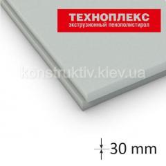 Экструдированный пенополистирол Техноплекс 30*580*1180мм (0,68 кв.м)