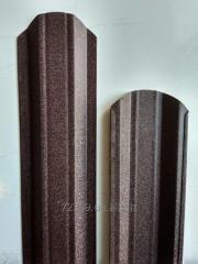 Штакетник металлический матовый двухсторонний 98мм