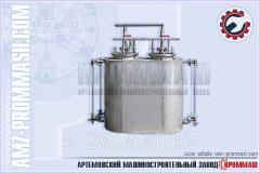 Installation of pneumatic dispensing of liquids