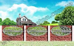 Заборы железобетонные декоративные, Наборной Забор