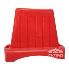 Дорожный блок 1000 1000х800х480 мм красный