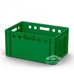 Пластиковый ящик для мяса 600х400х300 мм зеленый