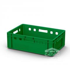Пластиковый ящик для мяса 600х400х200мм зеленый