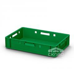 Пластиковый ящик для мяса 600х400х120 мм зеленый