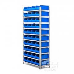 Стеллаж с лотками (414-40 шт) LS 2000(h)х1000х400