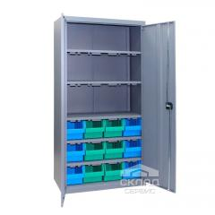 Металлический метизный шкаф ЯШМ-18 (с кюветами