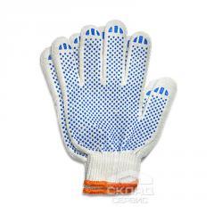 Защитные перчатки 180 текс 4 нити белые