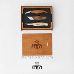 Набор ножей STRYI Profi для резьбы по дереву в оригинальной коробке STRYI, 3 штук, арт.503001