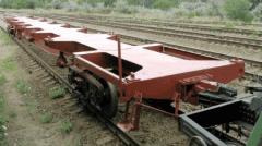 Вагон-платформа для перевозки крупнотоннажных