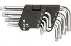 Ключи TOPEX Torx (звездочки), TS10-50, набор 9 шт.