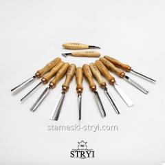 Набор профессиональных стамесок STRYI для резьбы по дереву, 12 штук, арт.512002