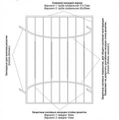 Кованая решетка за 550 грн./м2 Модель