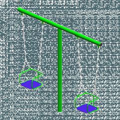 Качеля на цепях уличная