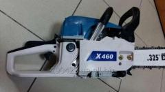 Бензопила цепная Hyundai X460 (Корея) Мощность 3,1 кВт (4,2 л.с.) 11000 об/мин Хромированная поршневая. Кованный вал. Карбюратор