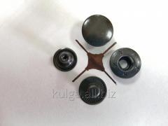 """Кнопки """"Alfa"""" 15 мм, оксид (НЕРЖАВЕЙКА)"""