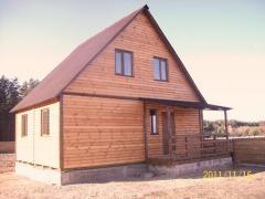 Дачный домик 6м х 6м ,  2 ЭТАЖА с КРЫЛЬЦОМ...