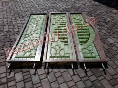 Форма для бетонного забора из стеклопластика