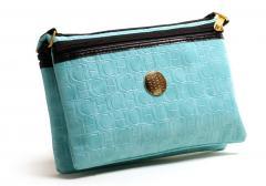 Mini-handbag of Carolina Herrera (turquoise) (001)