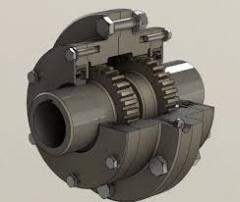 Зубчатая муфта соединения двигатель-редуктор механизма передвижения