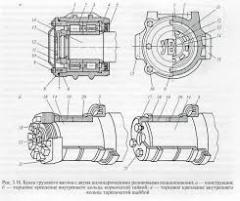 Буксы крепления выходной вал-шестерни редуктора механизма передвижения