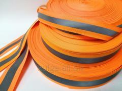 Светоотражающая лента на ткане 2.5см*1см, оранжевая