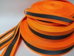Светоотражающая лента на ткане 3.5см*1.5см, оранжевая
