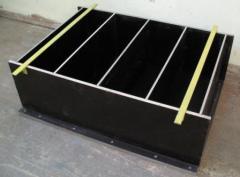 Forms for production of foam concrete blocks